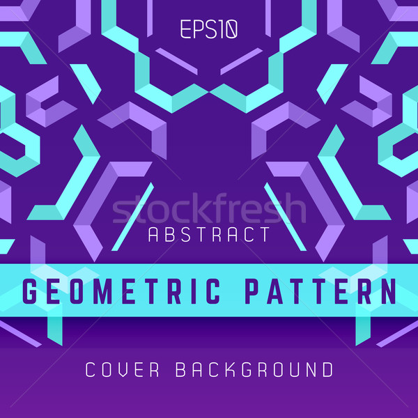 Violeta púrpura azul resumen geométrico vector Foto stock © TRIKONA