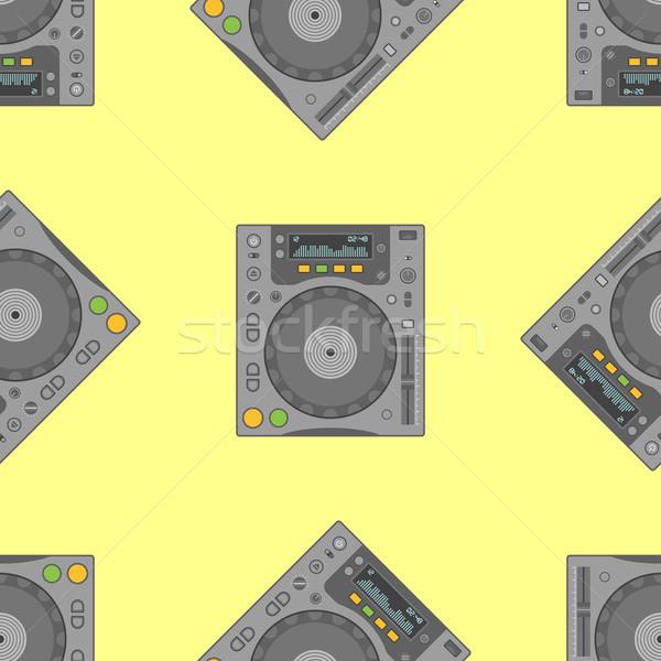 Vektor musical felszerlés végtelen minta színes terv Stock fotó © TRIKONA