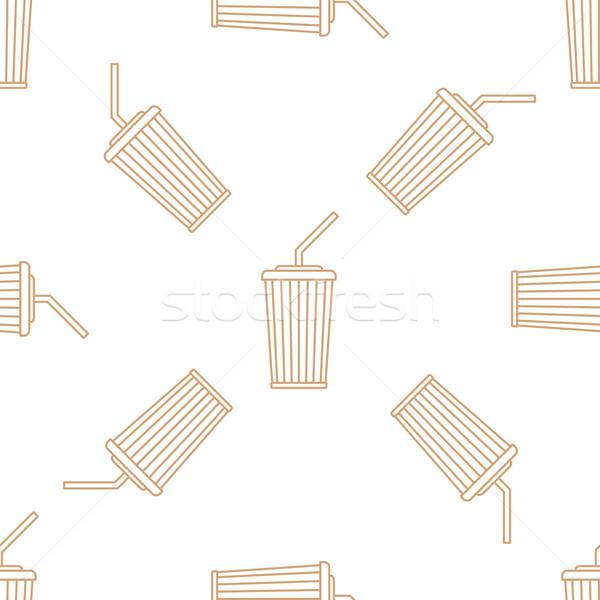Cola бумаги Кубок соломы Сток-фото © TRIKONA