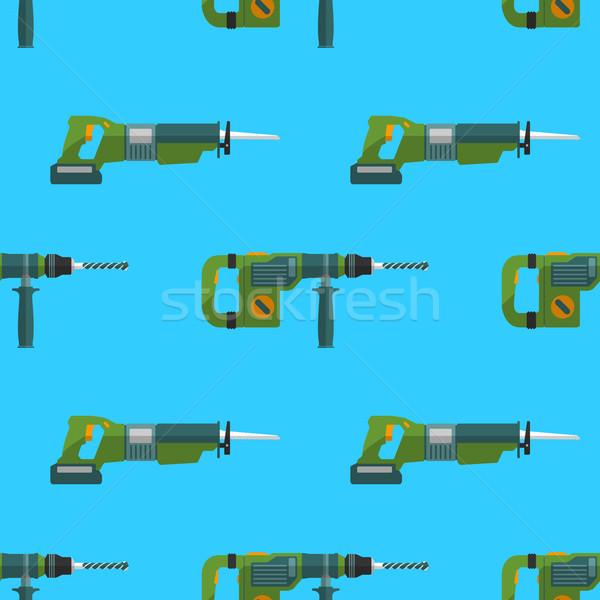 vector perforator reciprocating saw pattern Stock photo © TRIKONA