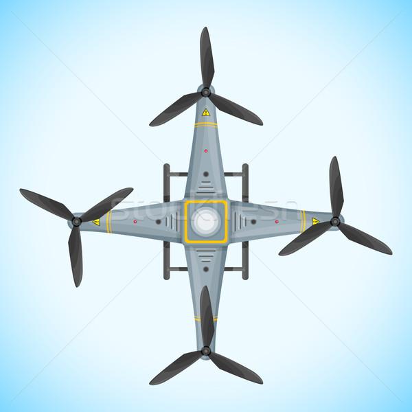 vector flat quadcopter drone illustration Stock photo © TRIKONA