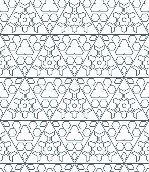 Sötét monokróm szín háromszög körvonal absztrakt Stock fotó © TRIKONA