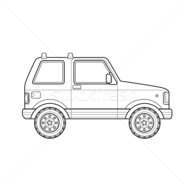 outline off-road suv car body style illustration icon Stock photo © TRIKONA