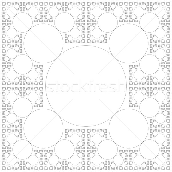 circle sacral geometry fractal structure background