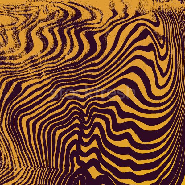Stock photo: vector gold suminagashi abstract background