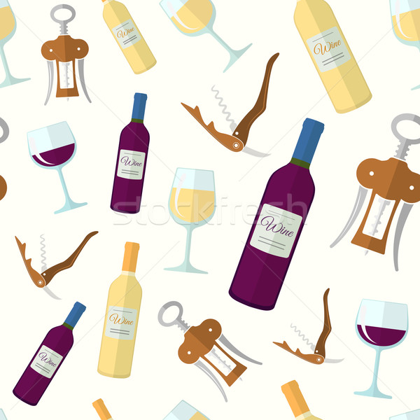 wine seamless pattern Stock photo © TRIKONA