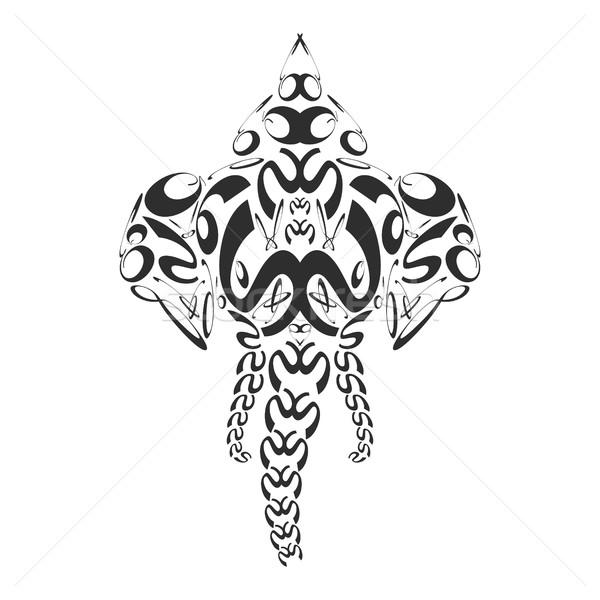 vector abstract monochrome elephant ganesh illustration Stock photo © TRIKONA