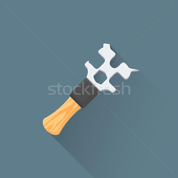 Vektör İngiliz anahtarı örnek ikon renkli Stok fotoğraf © TRIKONA