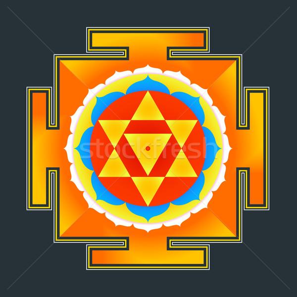 Színes illusztráció vektor hinduizmus szent diagram Stock fotó © TRIKONA
