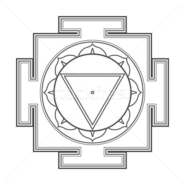 Stock fotó: Skicc · illusztráció · vektor · fekete · hinduizmus · szent