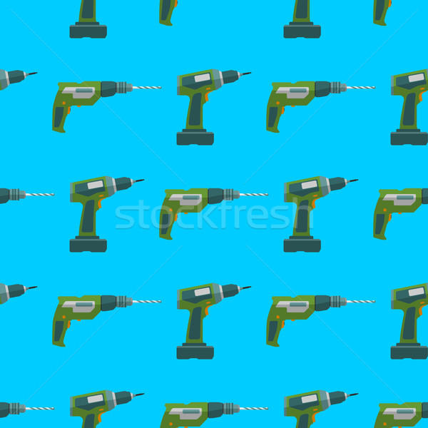 vector drill screwdriver seamless pattern