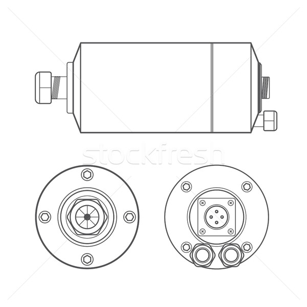 vector electric motor outline illustration
