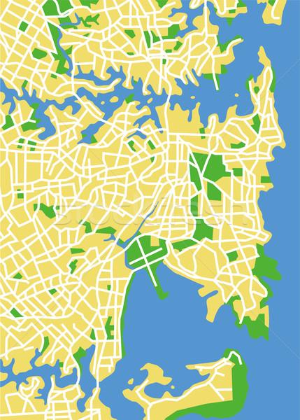 Sydney kaart weg stad straat Stockfoto © tshooter
