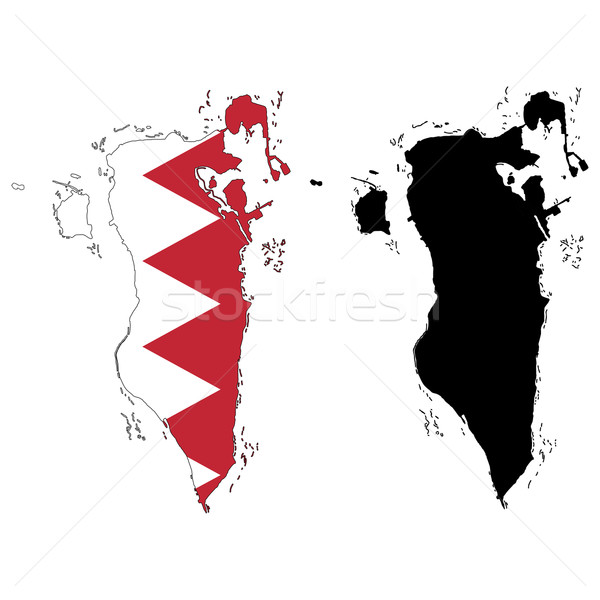 Bahrein kaart vlag wereld aarde reizen Stockfoto © tshooter