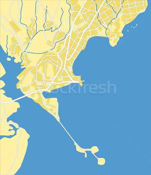 Panama réteges térkép város háttér zöld Stock fotó © tshooter