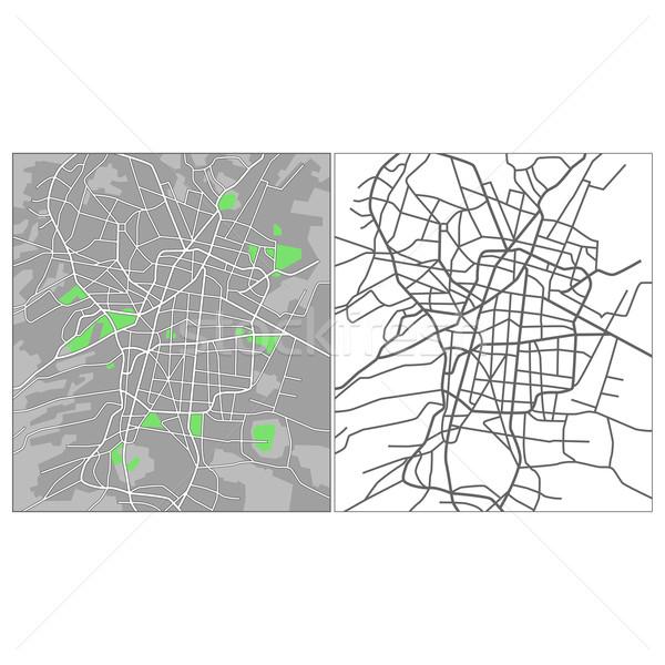 Mexikóváros réteges térkép út háttér kék Stock fotó © tshooter
