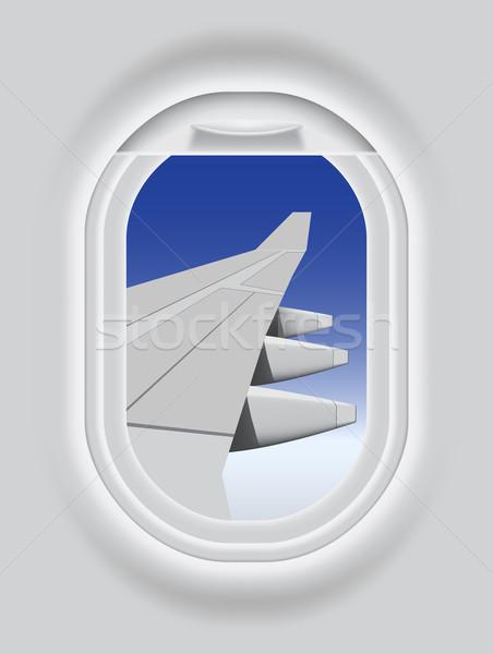 Aircraft Porthole Stock photo © tshooter