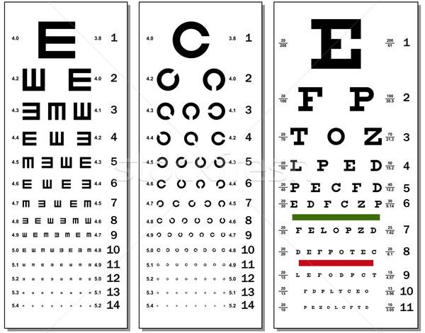 Eye Chart Stock photo © tshooter