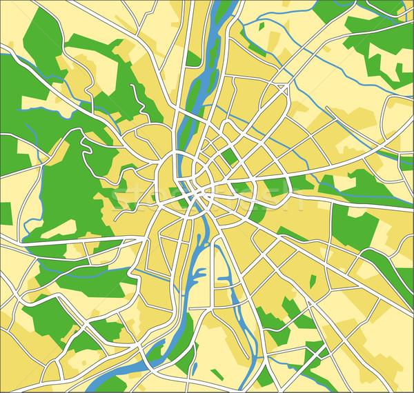 Budapest réteges térkép város kék autópálya Stock fotó © tshooter