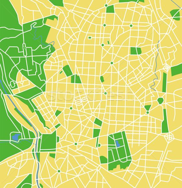 Madrid vector kaart weg stad Stockfoto © tshooter
