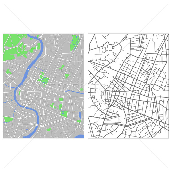 Bangkok kaart stad straat groene Stockfoto © tshooter