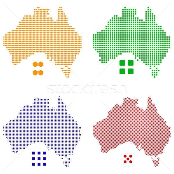 Australië vector verschillend kaart groene Stockfoto © tshooter