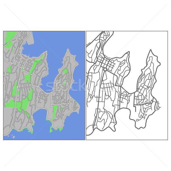 Wellington mapa cidade rua fundo Foto stock © tshooter