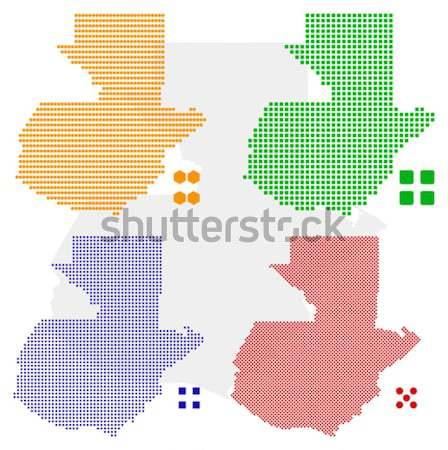 Гватемала вектора различный Пиксели карта зеленый Сток-фото © tshooter