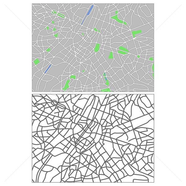 Brüsszel réteges térkép város zöld kék Stock fotó © tshooter