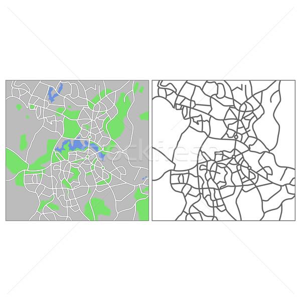 Canberra mapa cidade rua verde Foto stock © tshooter
