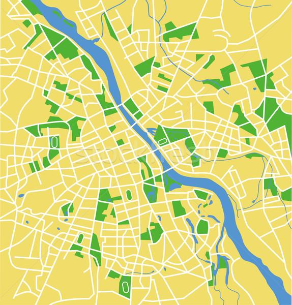 Warschau kaart weg stad straat Stockfoto © tshooter