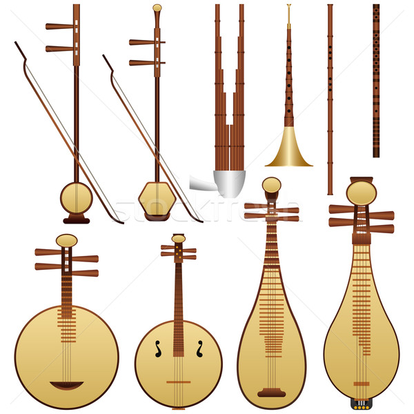 Chinese Music Instruments Stock photo © tshooter