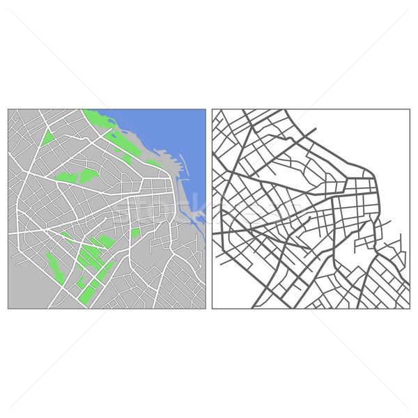 Buenos Aires kaart weg stad straat Stockfoto © tshooter