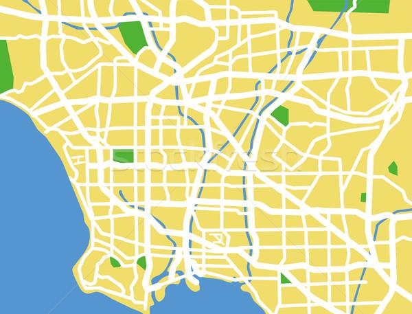 Los Angeles mapa cidade fundo verde Foto stock © tshooter