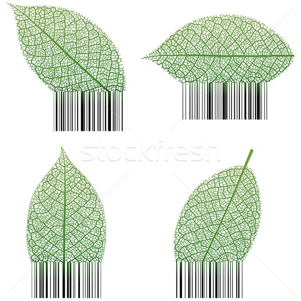 Blad barcode business bar zwarte Stockfoto © tshooter