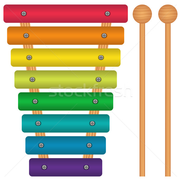 おもちゃ 木琴 レイヤード 金属 虹 サウンド ストックフォト © tshooter