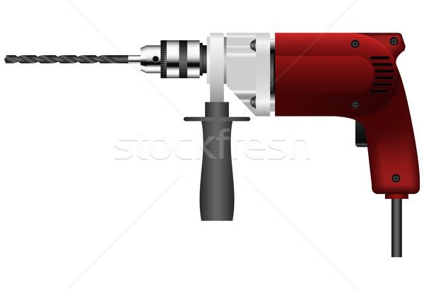 дрель строительство кабеля красный промышленных Сток-фото © tshooter