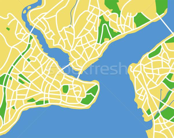 Istanbul mappa città sfondo autostrada Foto d'archivio © tshooter