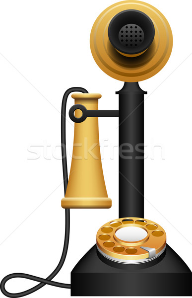 Layered vector illustration of Old Telephone. Stock photo © tshooter