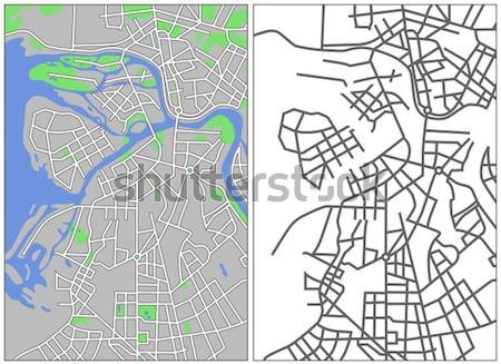 Moscou mapa estrada rua fundo Foto stock © tshooter