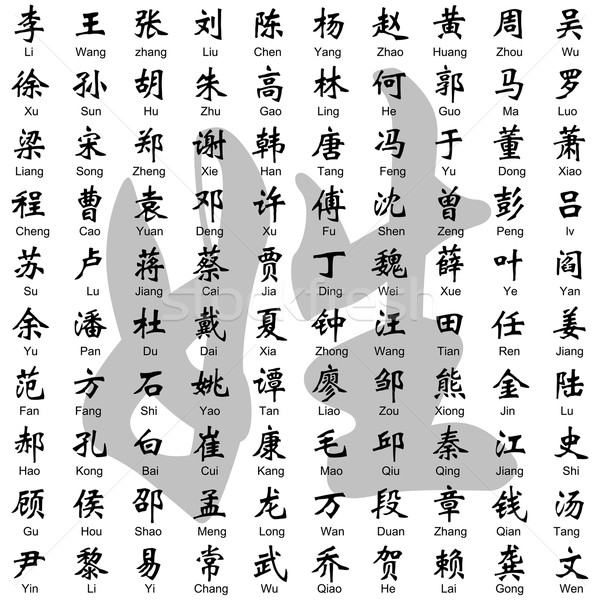 Chinese Surname Stock photo © tshooter