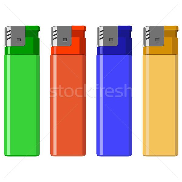 Verschillend kleur brand rook Blauw hot Stockfoto © tshooter