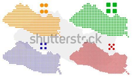 Kenia vector verschillend kaart groene Stockfoto © tshooter