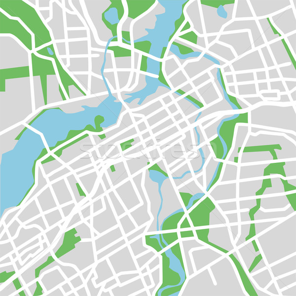 Ottawa harita şehir arka plan kentsel Stok fotoğraf © tshooter