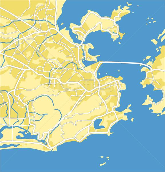 Rio de Janeiro mapa estrada cidade fundo Foto stock © tshooter