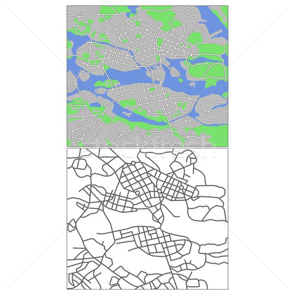 Stockholm harita yol şehir arka plan Stok fotoğraf © tshooter