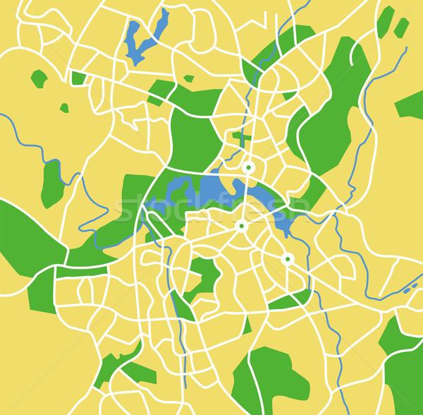Canberra kaart stad straat groene Stockfoto © tshooter