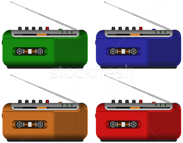 Tape technologie radio spreker Stockfoto © tshooter