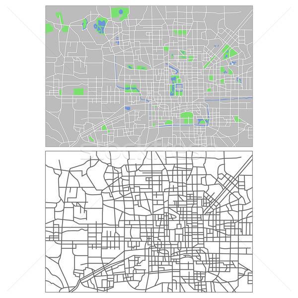 Пекин карта город улице зеленый городского Сток-фото © tshooter
