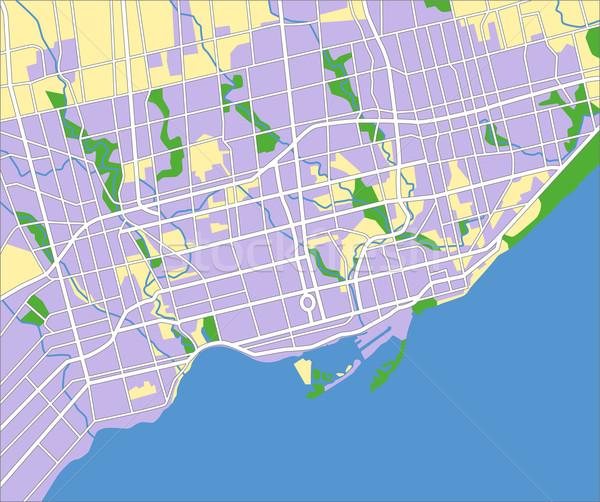 Toronto mapa ciudad azul carretera Foto stock © tshooter